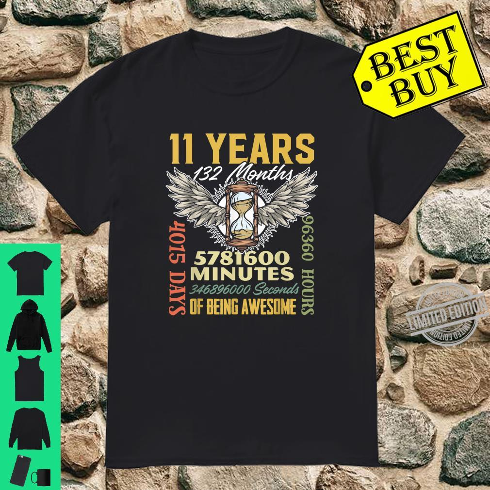 11 Years 132 Months Retro Vintage 11th Birthday Party Shirt