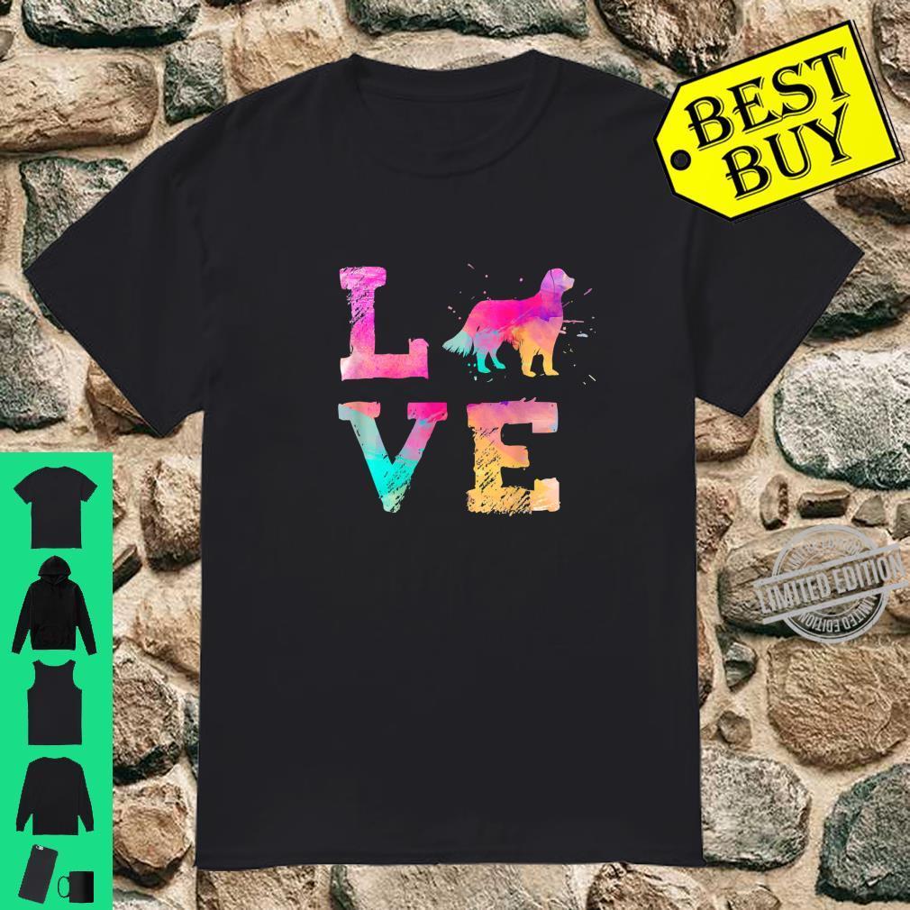 Colorful English Setter Dog Lover Dad Mom Shirt