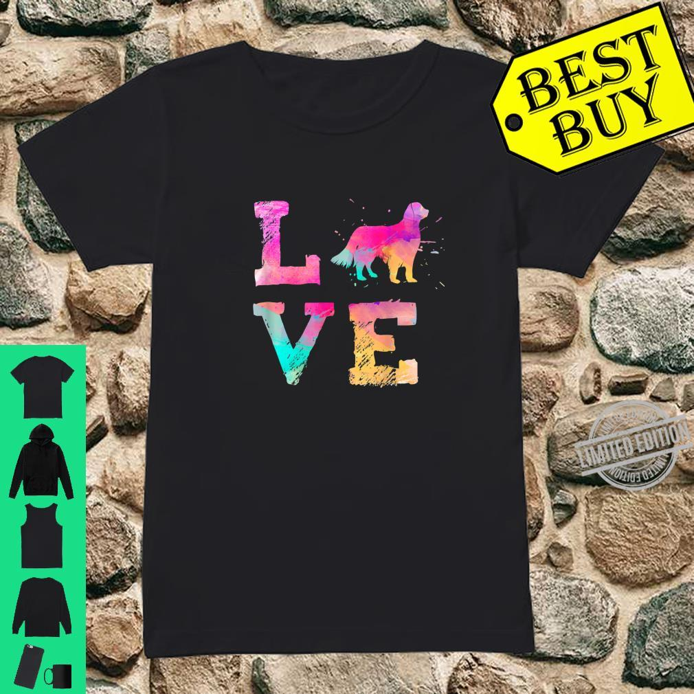 Colorful English Setter Dog Lover Dad Mom Shirt ladies tee