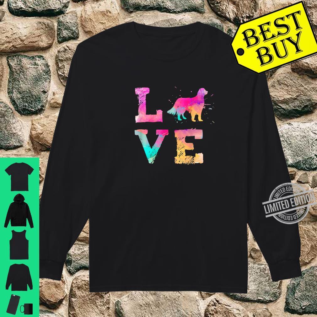 Colorful English Setter Dog Lover Dad Mom Shirt long sleeved
