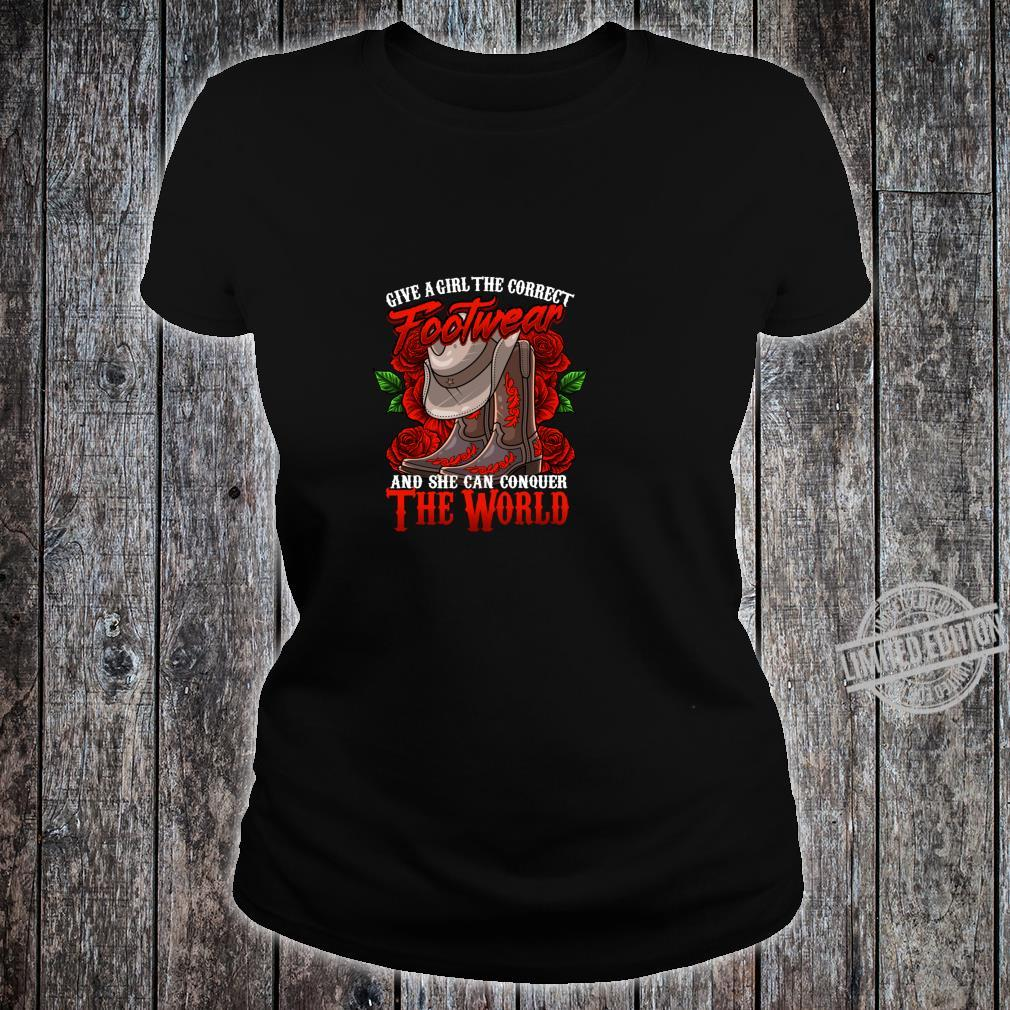 Cowgirl Country Western Boot cute Shirt ladies tee