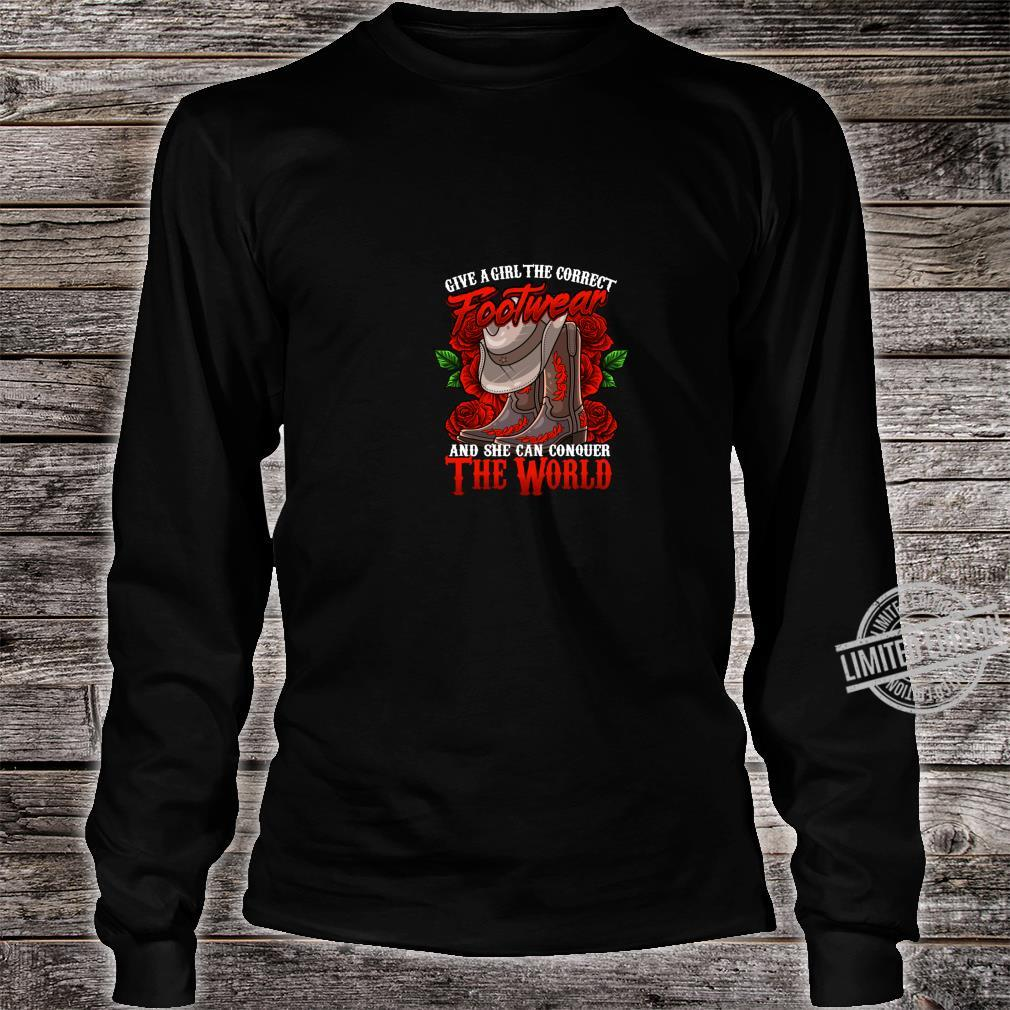Cowgirl Country Western Boot cute Shirt long sleeved