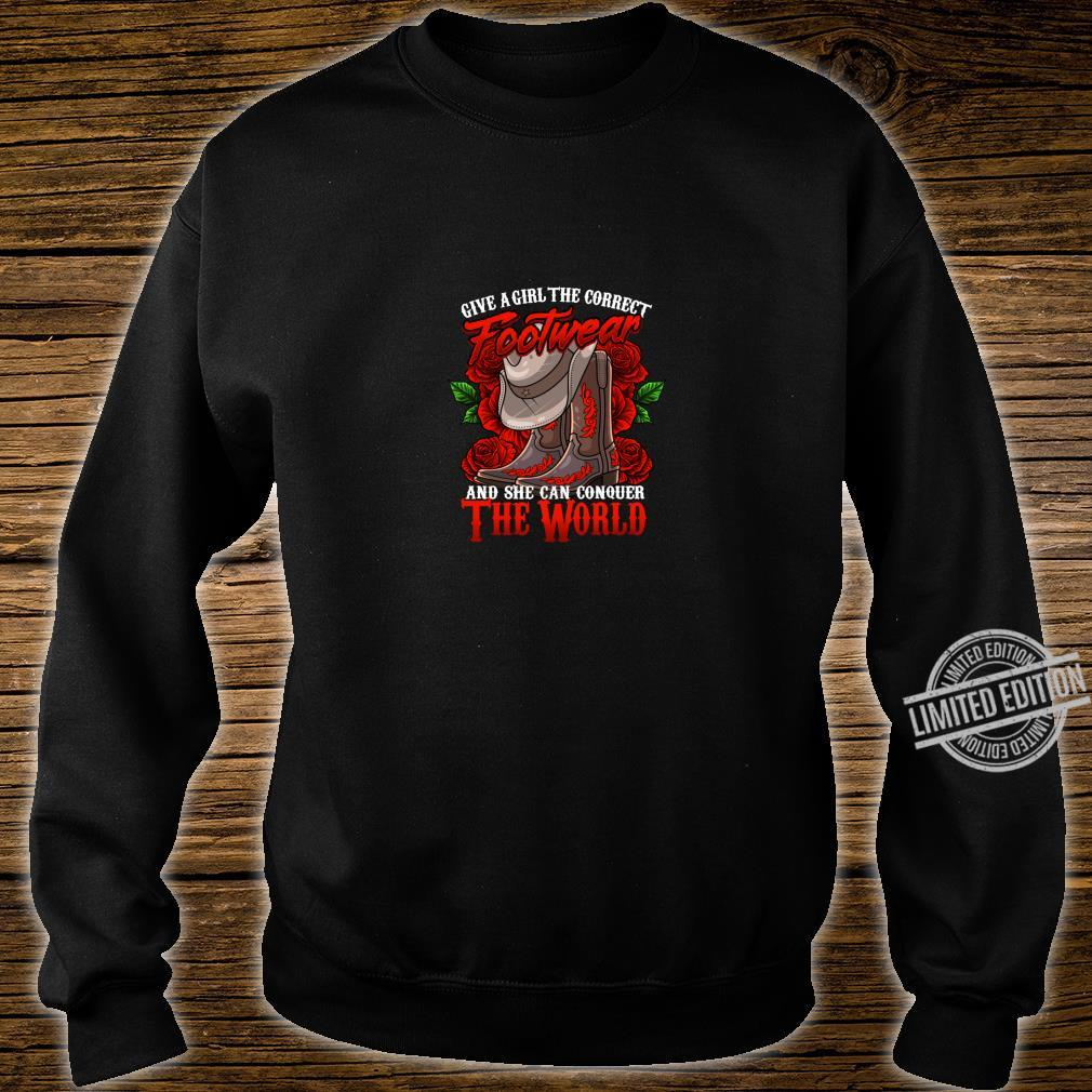 Cowgirl Country Western Boot cute Shirt sweater
