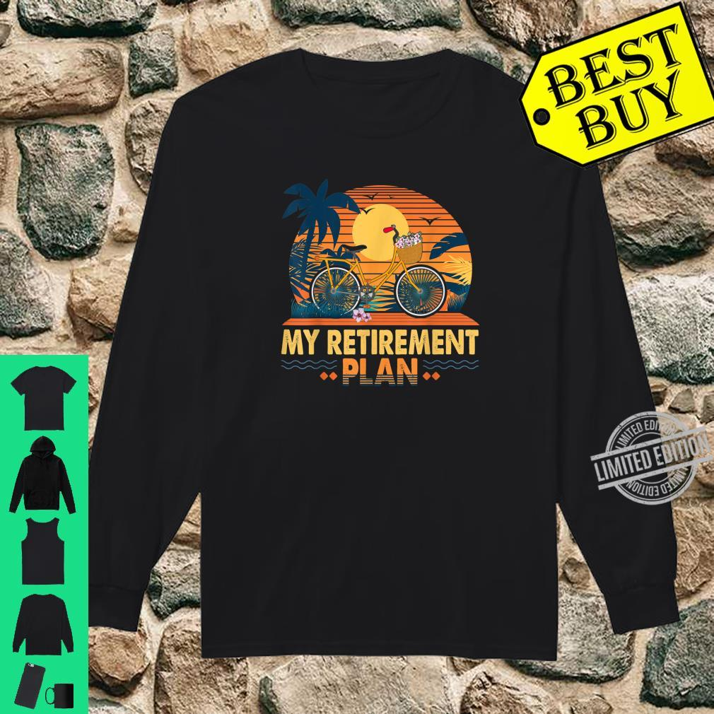 Cyclist Retirement Plan Bicycle Bike Riding Rider Sunset Fun Shirt long sleeved