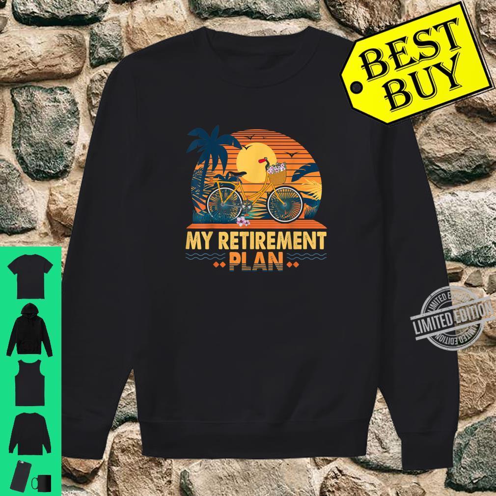 Cyclist Retirement Plan Bicycle Bike Riding Rider Sunset Fun Shirt sweater