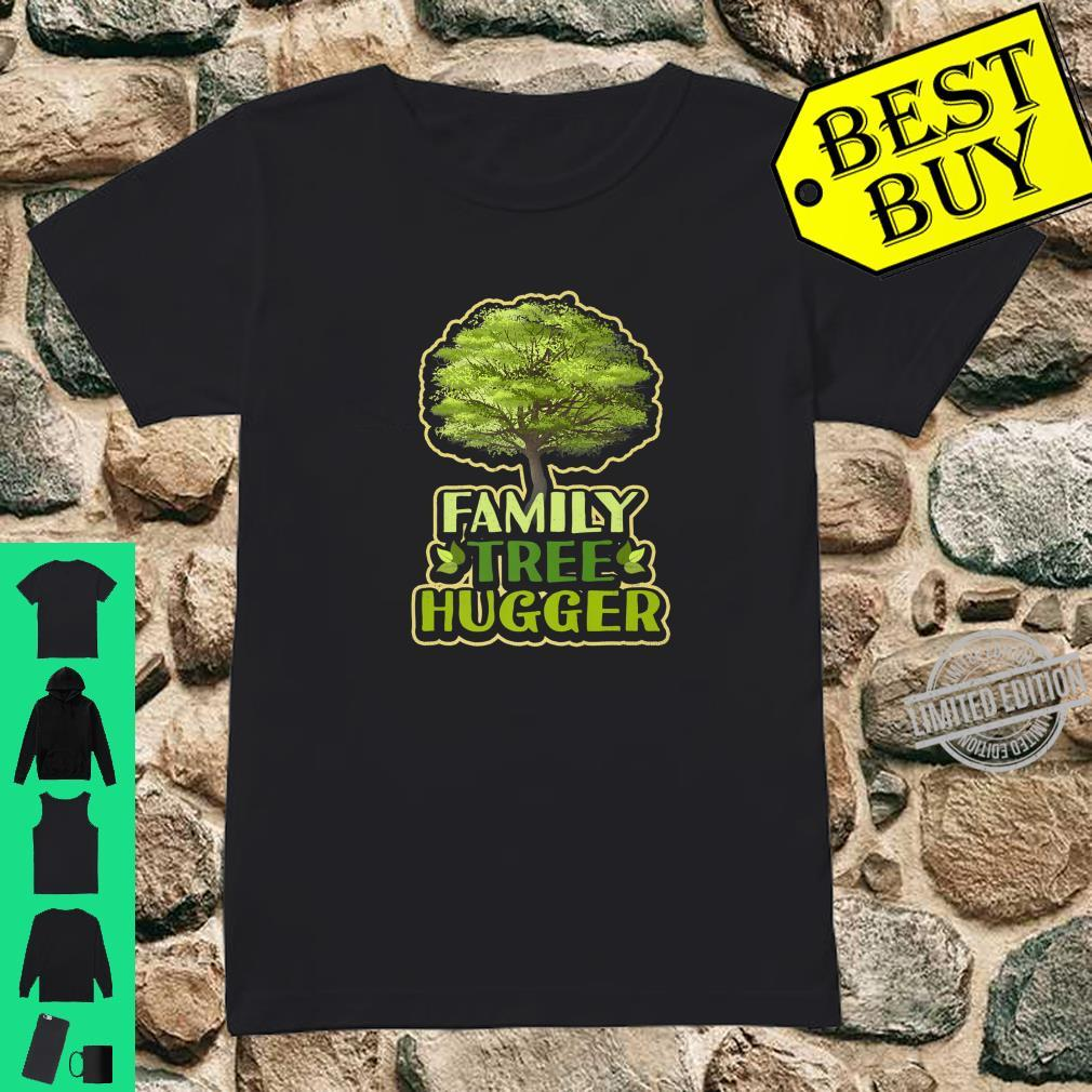 Family Tree Hugger Reunion Genealogy Shirt ladies tee
