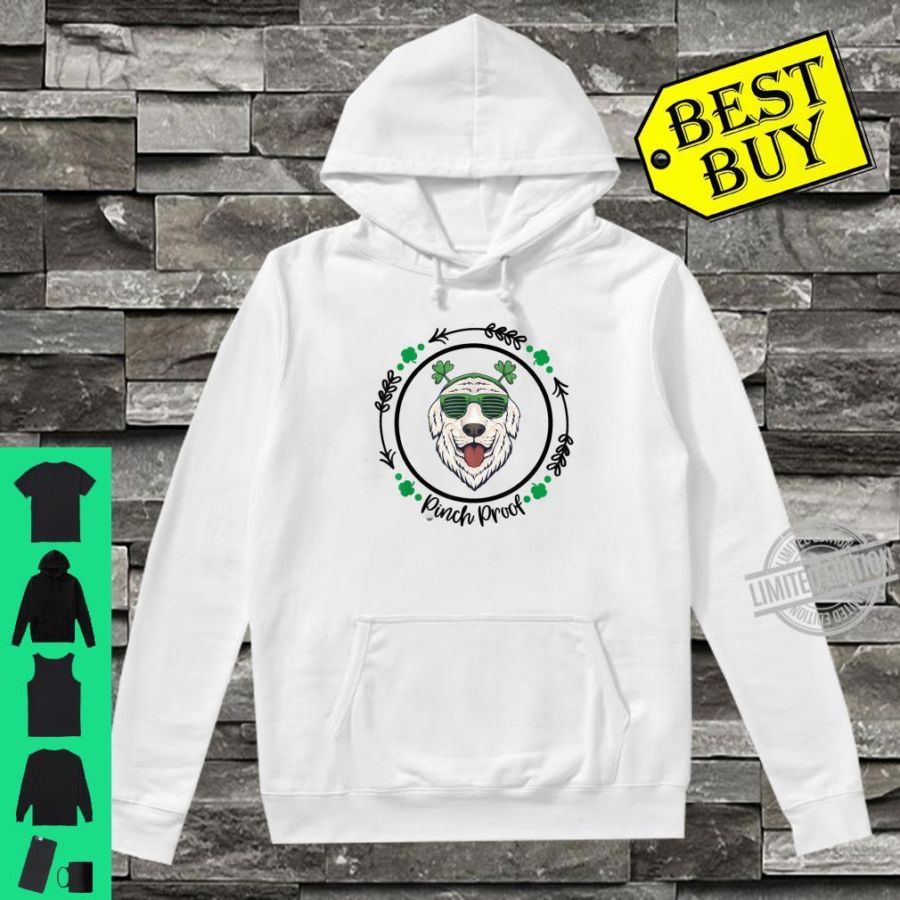 Golden Retriever Irish Creme Shamrock Dog St. Patricks Day Shirt hoodie