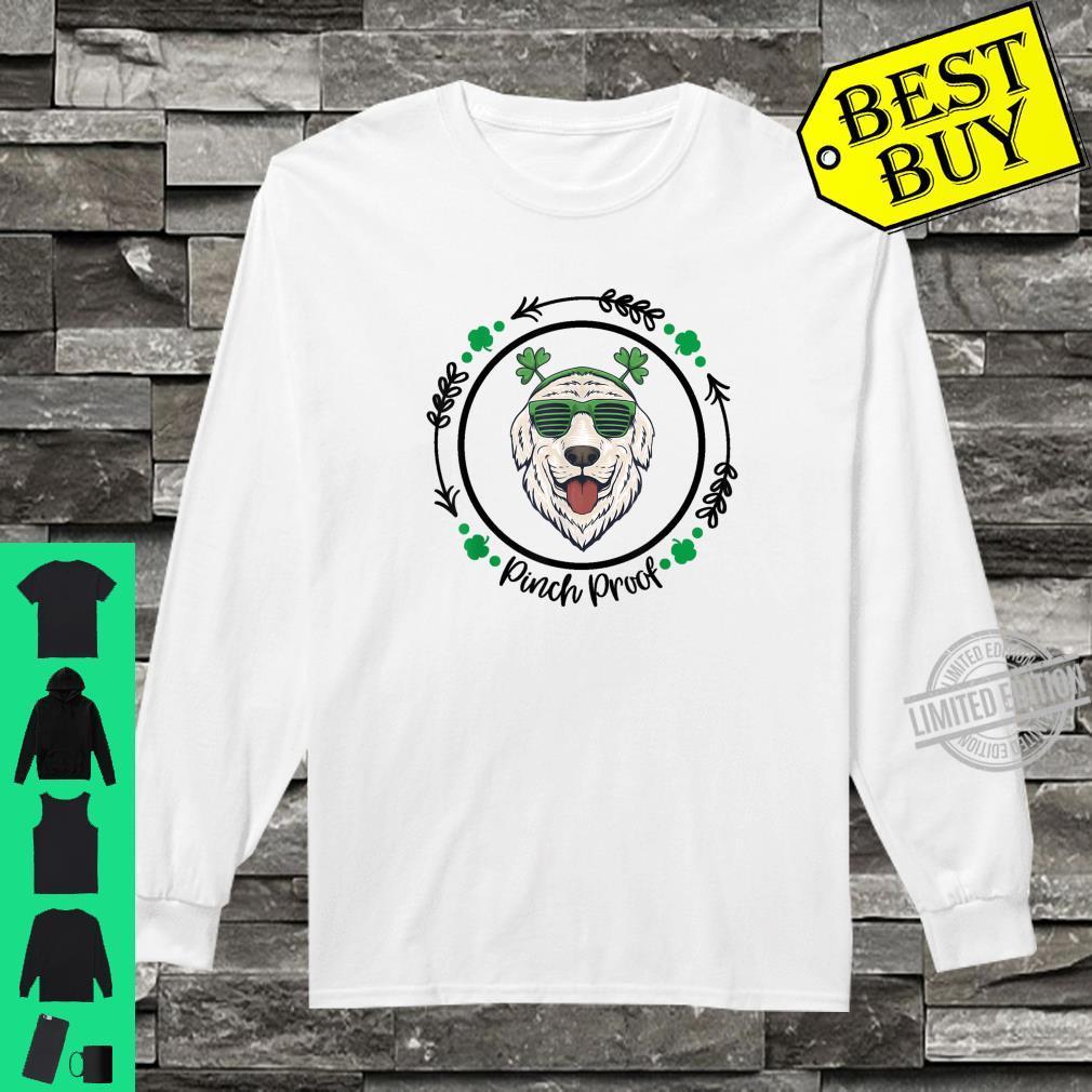 Golden Retriever Irish Creme Shamrock Dog St. Patricks Day Shirt long sleeved