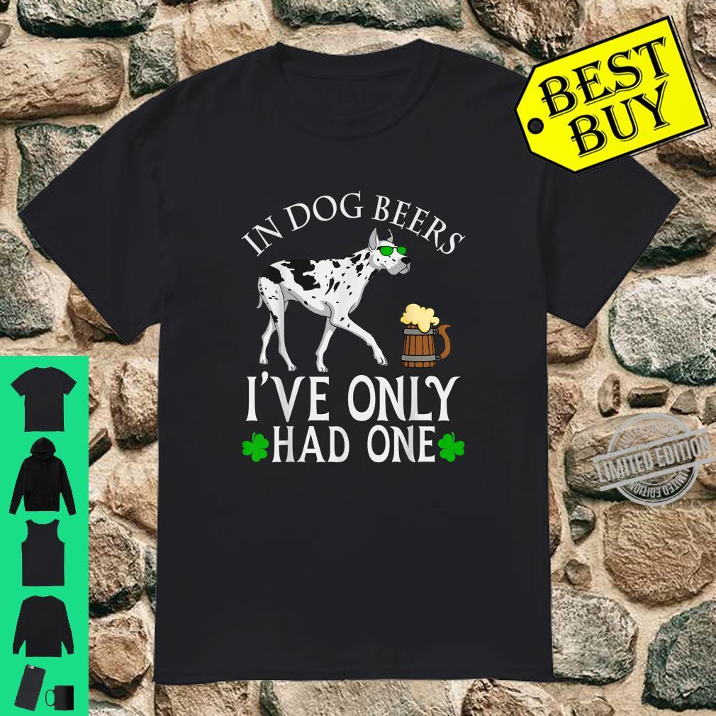 Great Dane Dog Owner Shirt Beer Drinking St Patrick's Day Shirt