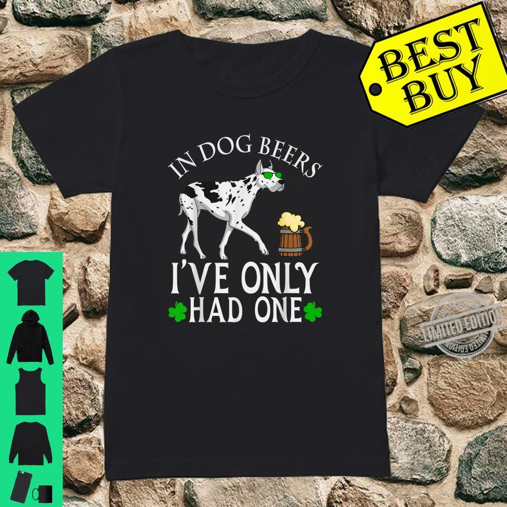 Great Dane Dog Owner Shirt Beer Drinking St Patrick's Day Shirt ladies tee