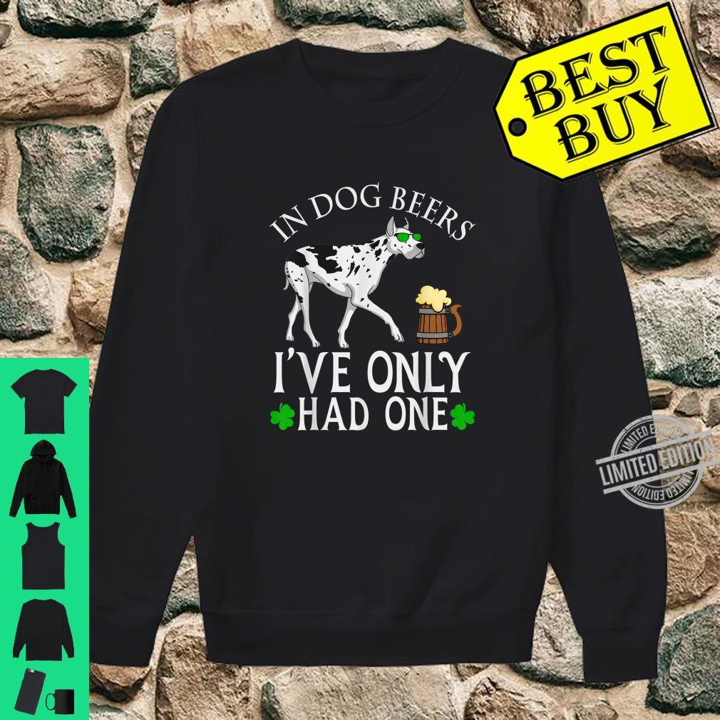 Great Dane Dog Owner Shirt Beer Drinking St Patrick's Day Shirt sweater