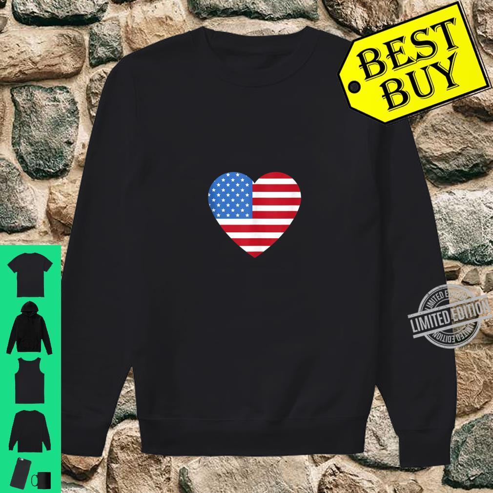 I love America Love Flag heart 4th of July Shirt sweater