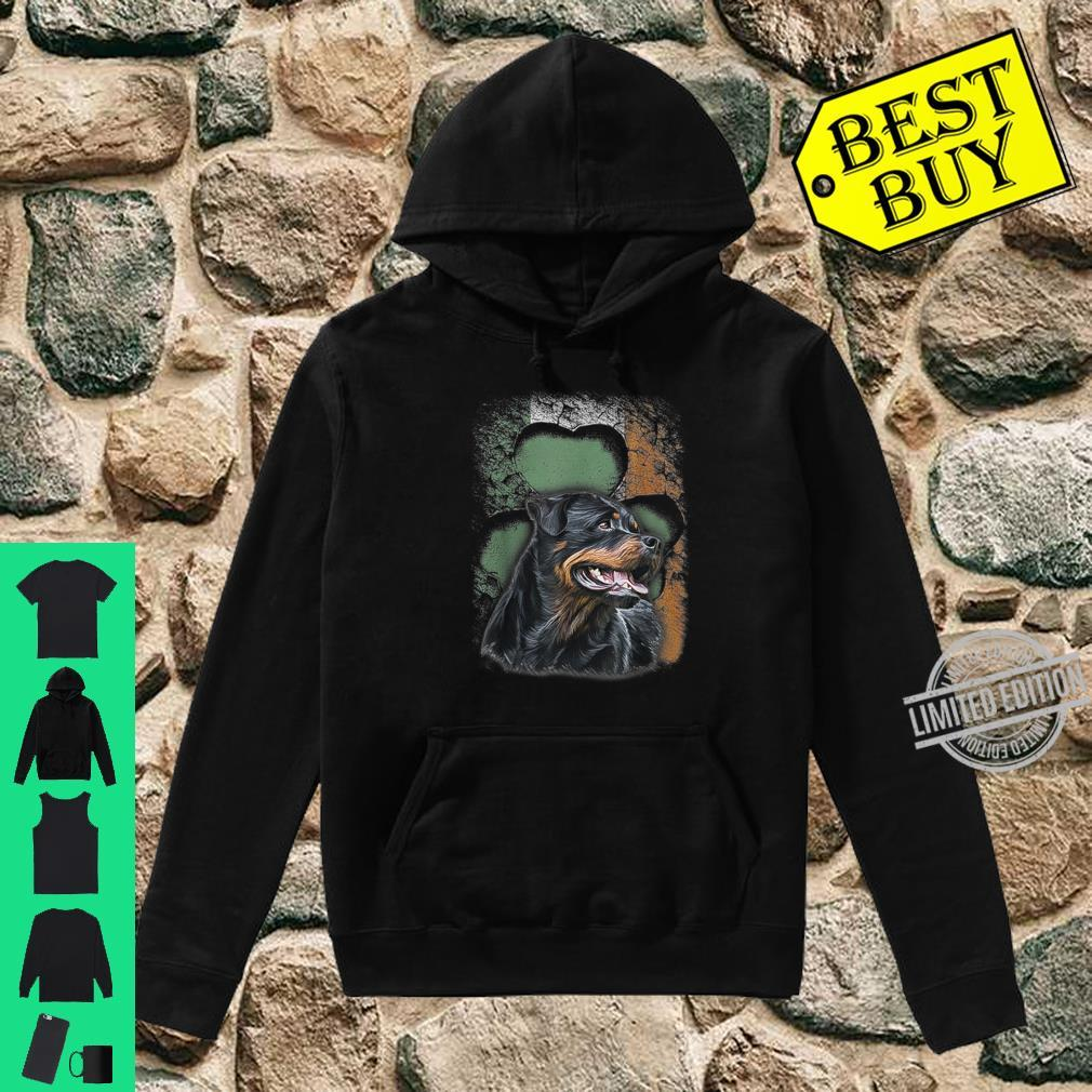 Irish Rottweiler American Flag Shamrock Happy St Patrick Day Shirt hoodie