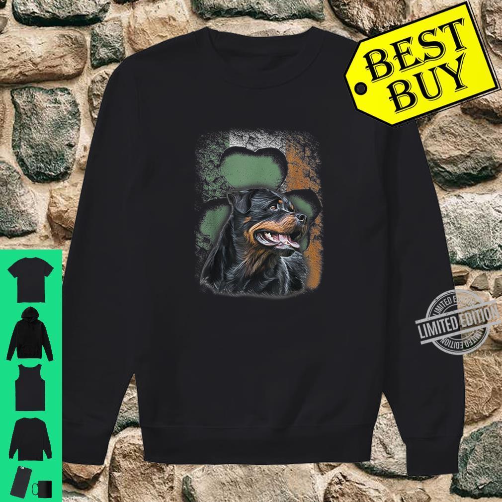 Irish Rottweiler American Flag Shamrock Happy St Patrick Day Shirt sweater
