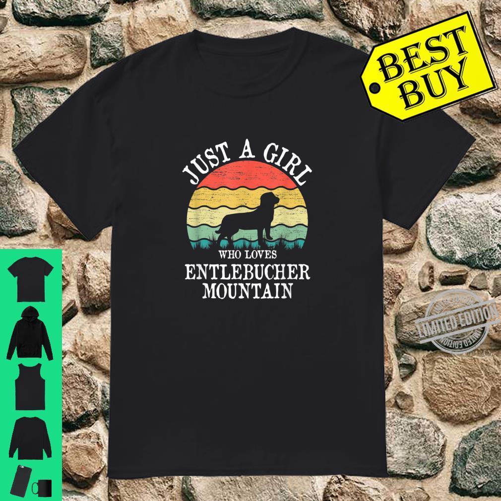 Just A Girl Who Loves Entlebucher Mountain Dog Shirt