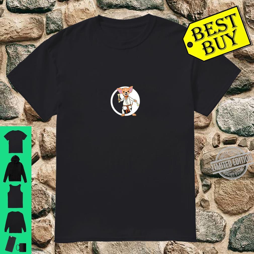 Karate Chihuahua Martial Arts Black Belt Shirt
