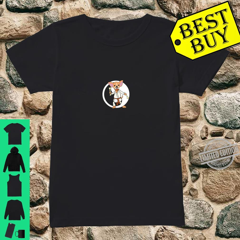Karate Chihuahua Martial Arts Black Belt Shirt ladies tee