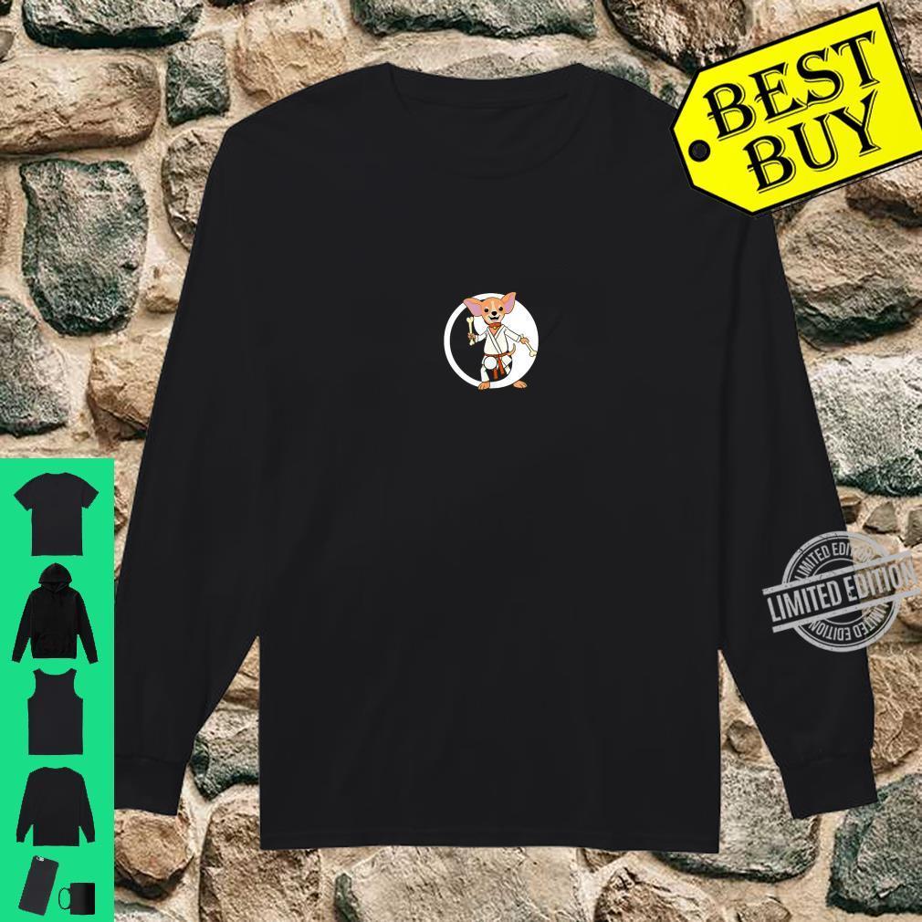 Karate Chihuahua Martial Arts Black Belt Shirt long sleeved