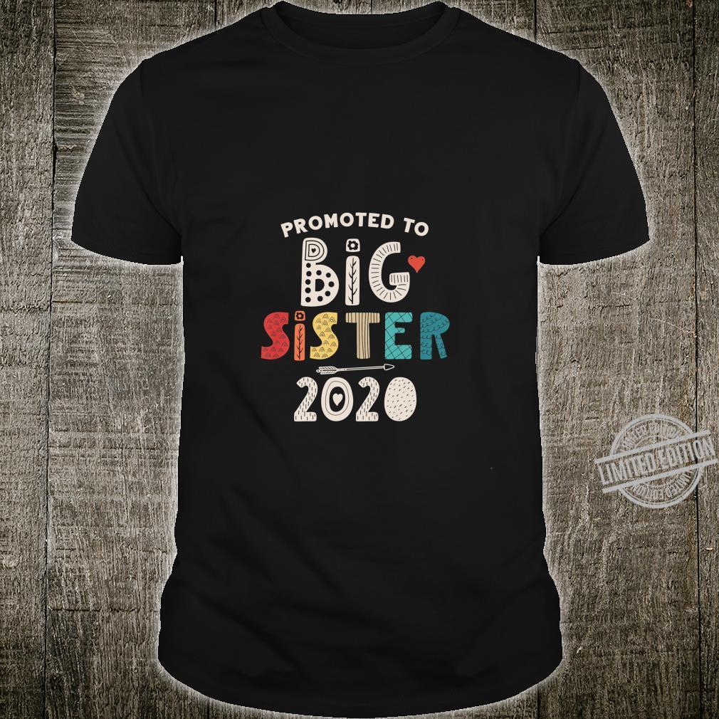 Kids Promoted to Big Sister 2020 Daughter Girls Newborn Shirt
