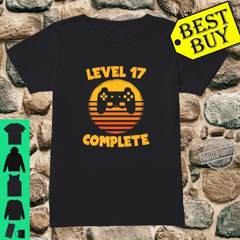 Level 17 Complete Gamer Birthday Birthday Child Shirt ladies tee