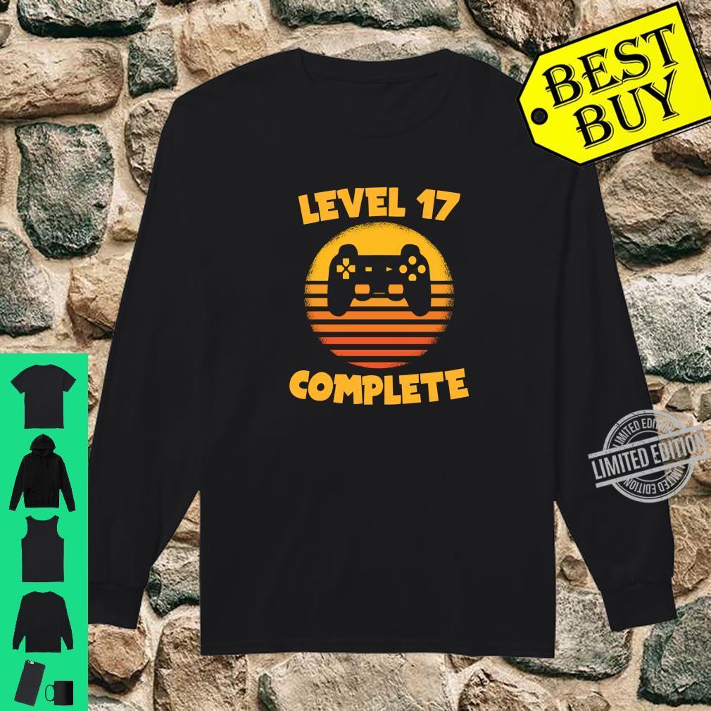 Level 17 Complete Gamer Birthday Birthday Child Shirt long sleeved