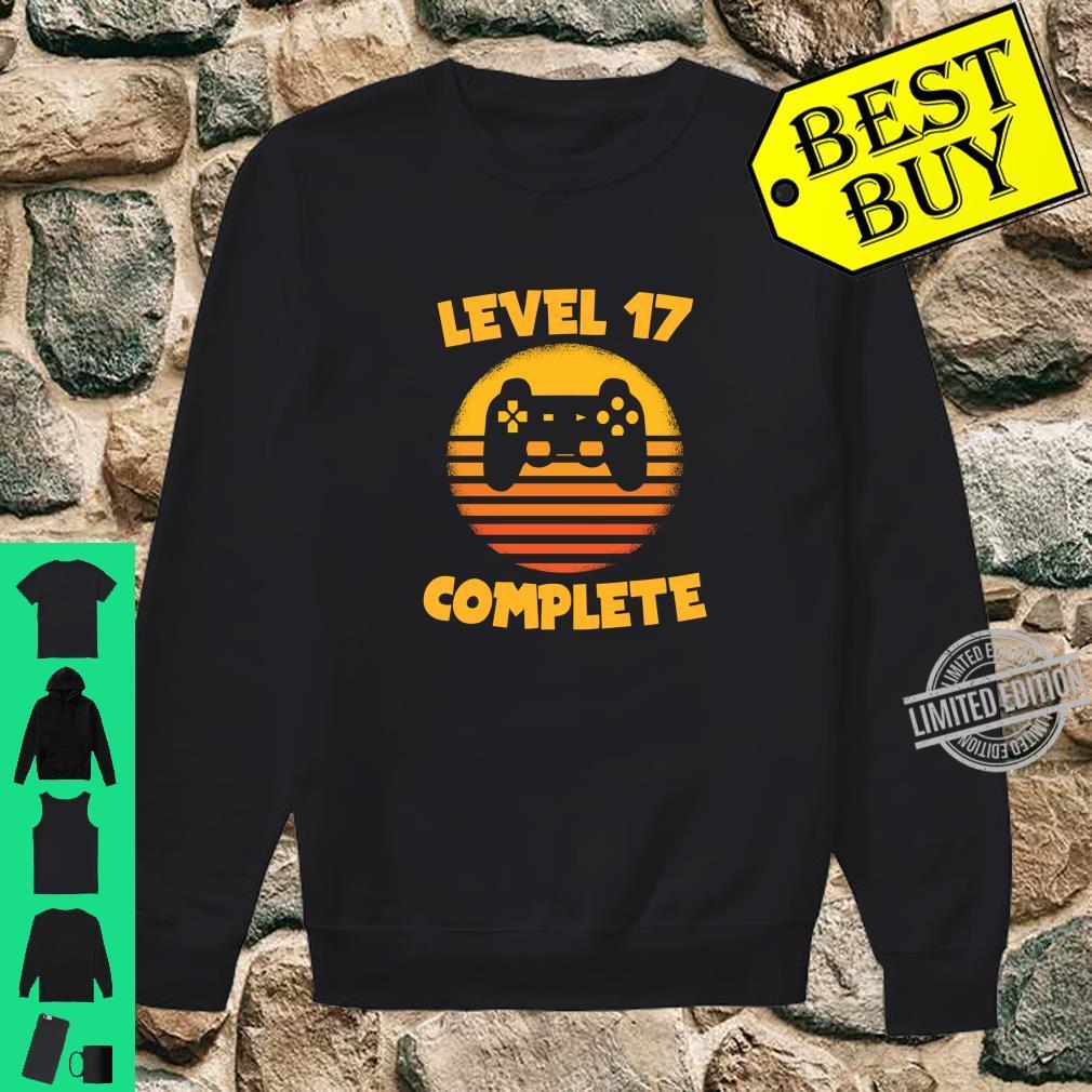 Level 17 Complete Gamer Birthday Birthday Child Shirt sweater