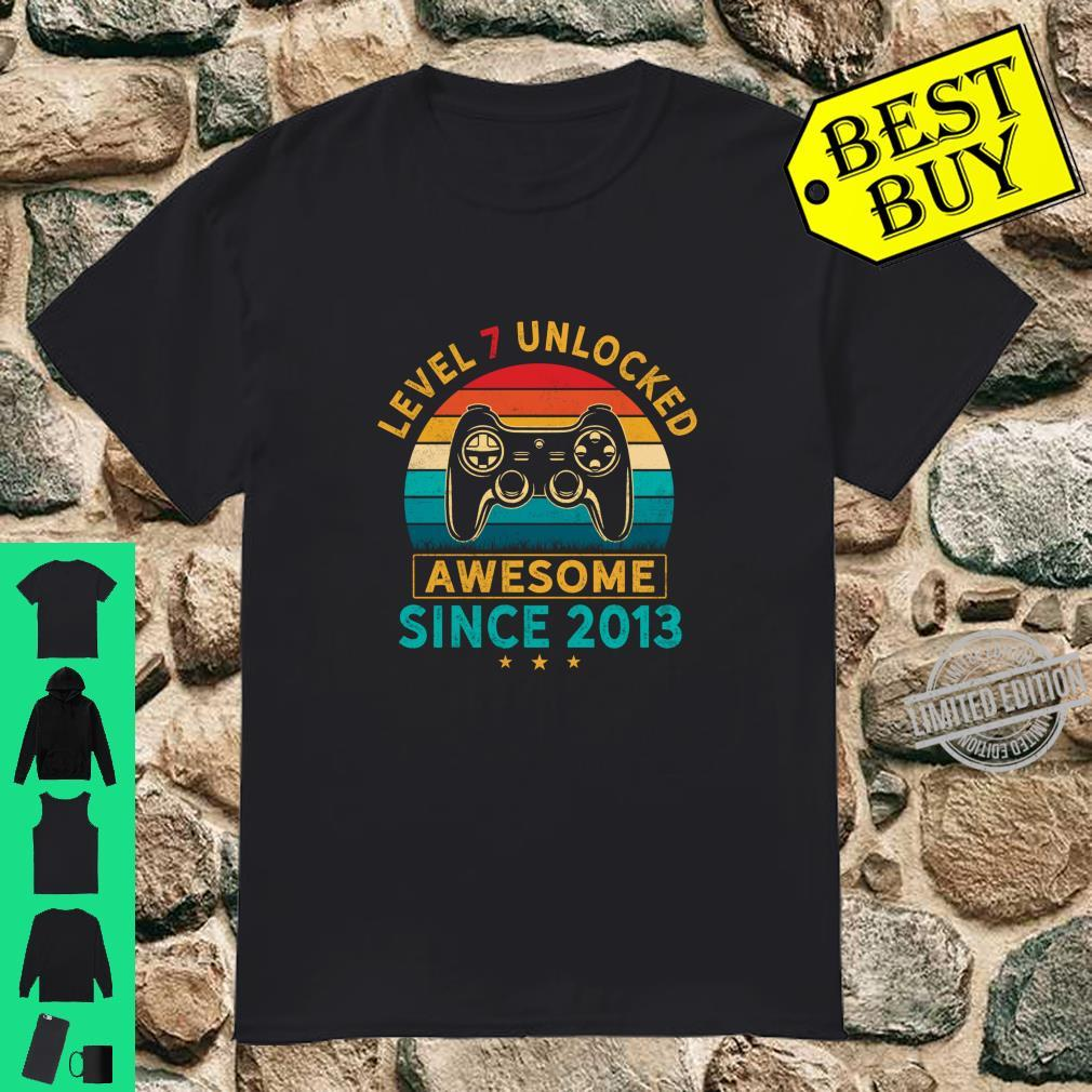 Level 7 Unlocked Birthday 7 Years Old Awesome Since 2013 Shirt