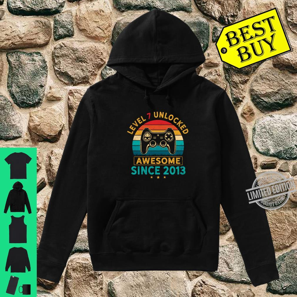 Level 7 Unlocked Birthday 7 Years Old Awesome Since 2013 Shirt hoodie