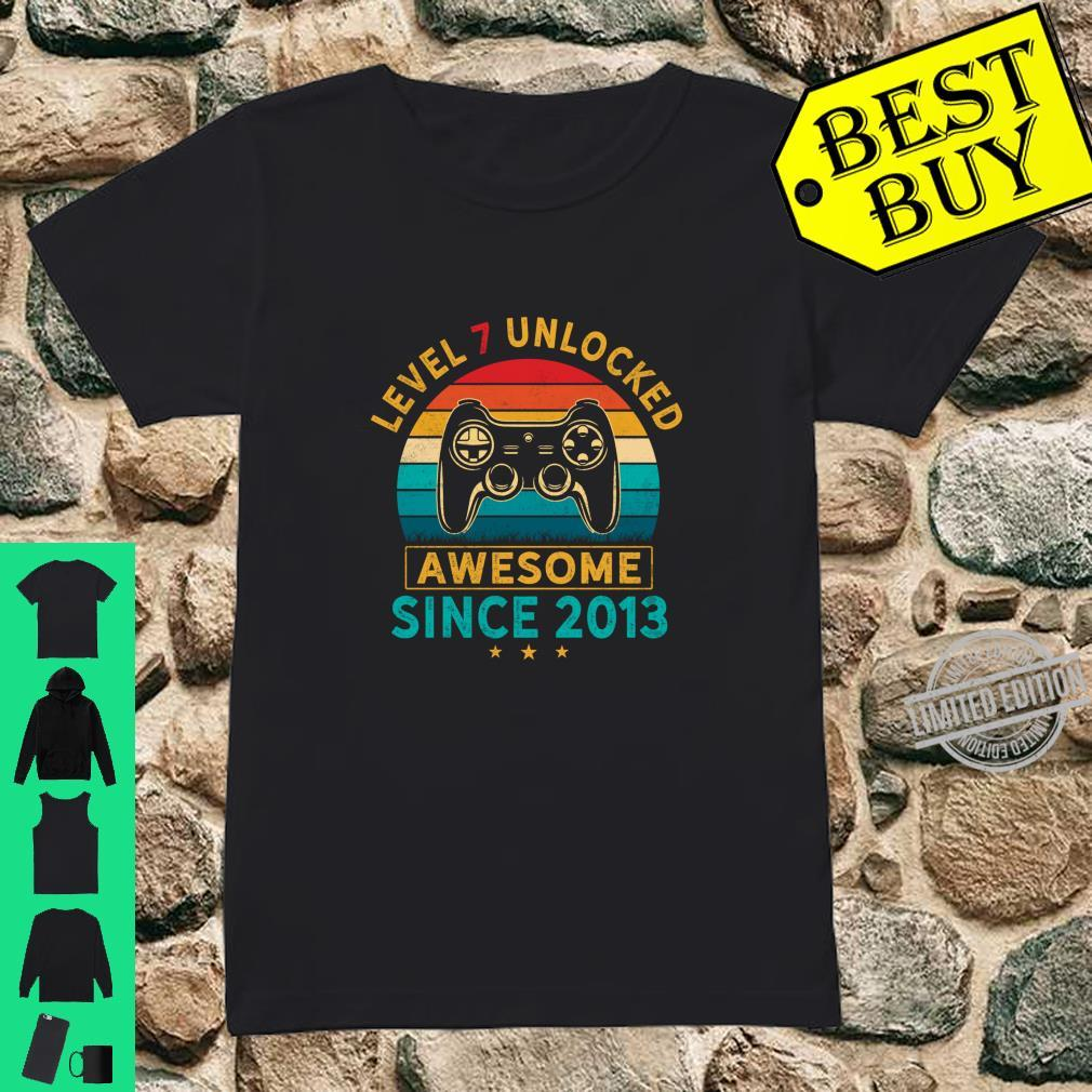 Level 7 Unlocked Birthday 7 Years Old Awesome Since 2013 Shirt ladies tee