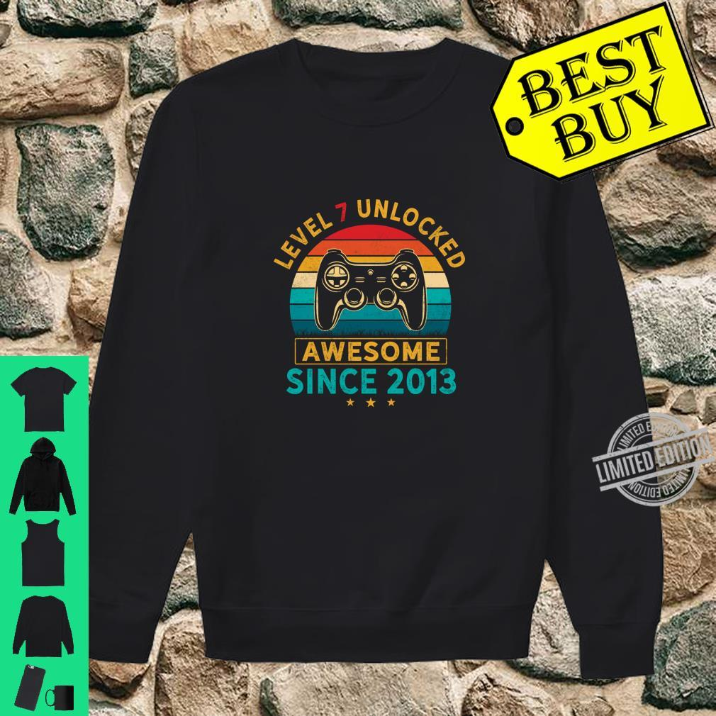 Level 7 Unlocked Birthday 7 Years Old Awesome Since 2013 Shirt sweater