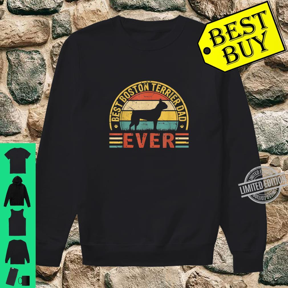 Mens Father's Day Best Boston Terrier Dad Ever Vintage Shirt sweater