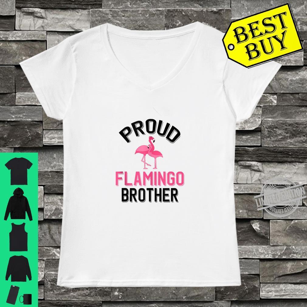 Mens Proud Flamingo Brother Flamingo Pet Owner Shirt ladies tee