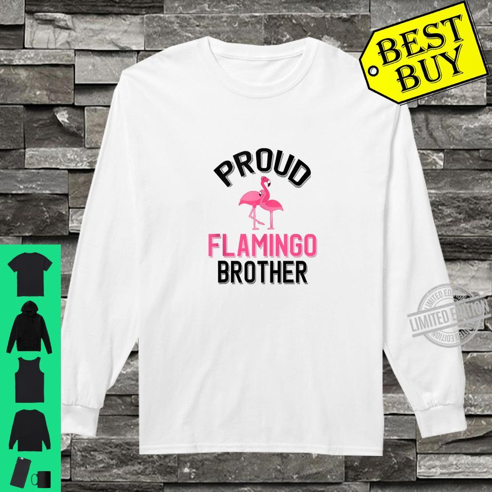 Mens Proud Flamingo Brother Flamingo Pet Owner Shirt long sleeved