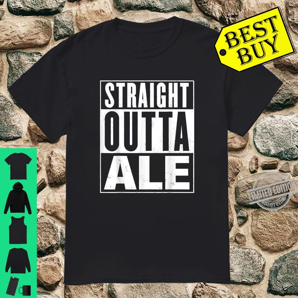Mens Straight Outta Ale Distressed Vintage Shirt