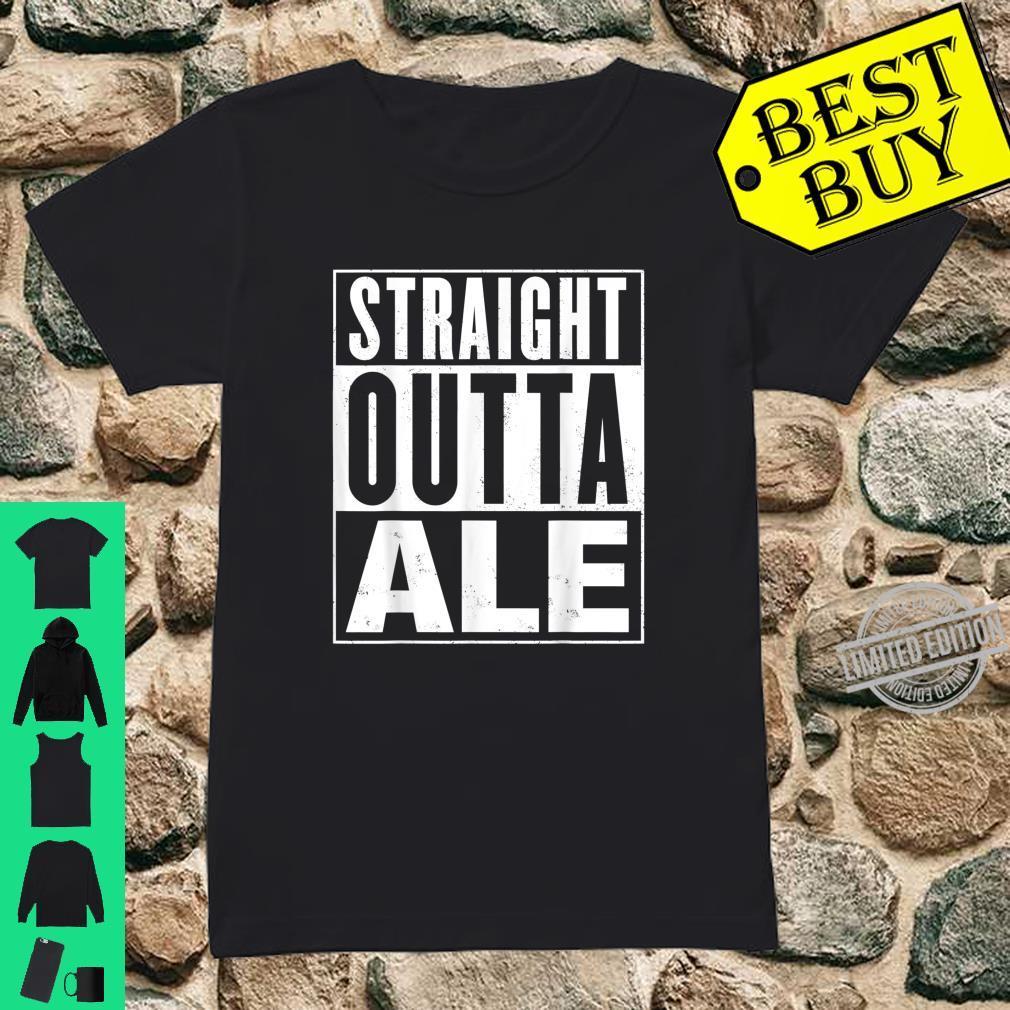 Mens Straight Outta Ale Distressed Vintage Shirt ladies tee