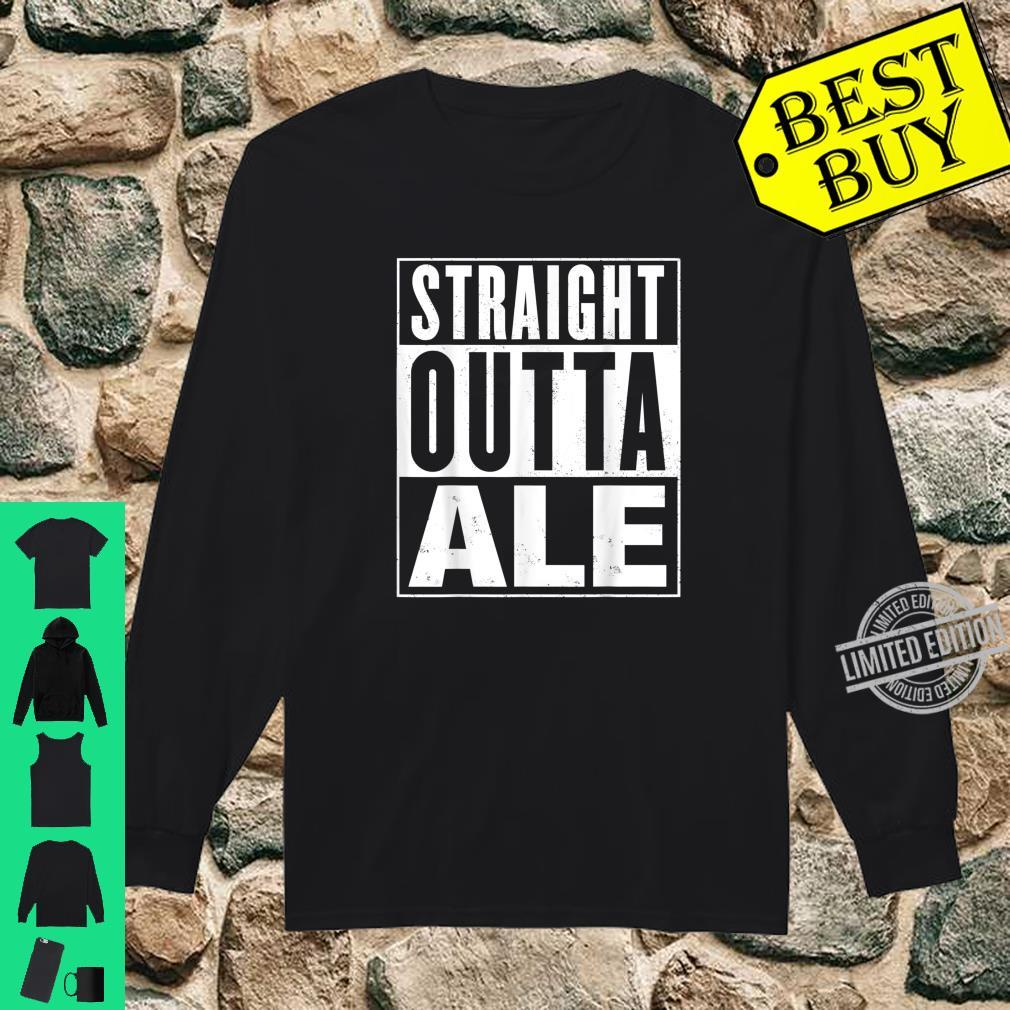 Mens Straight Outta Ale Distressed Vintage Shirt long sleeved