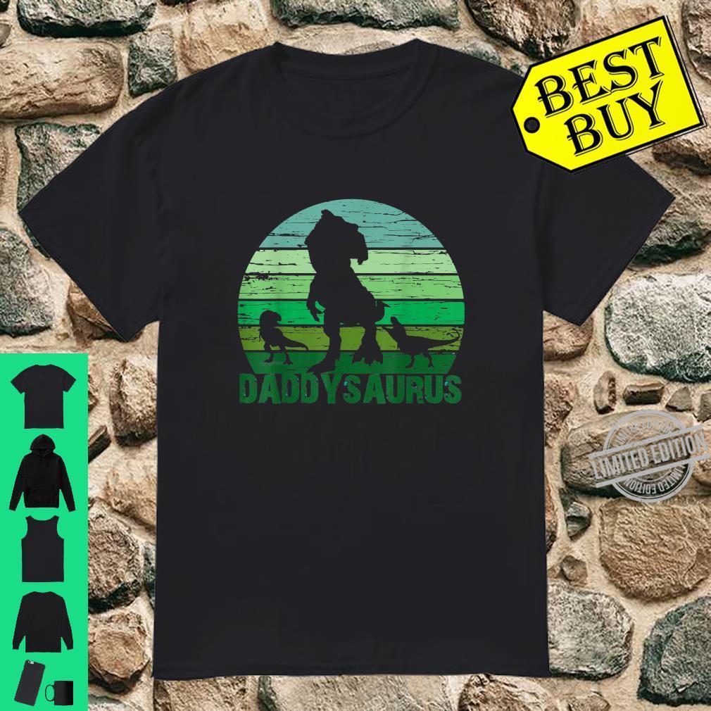 Mens TRex Daddysaurus Cute Dinosaur Fathers Day Shirt