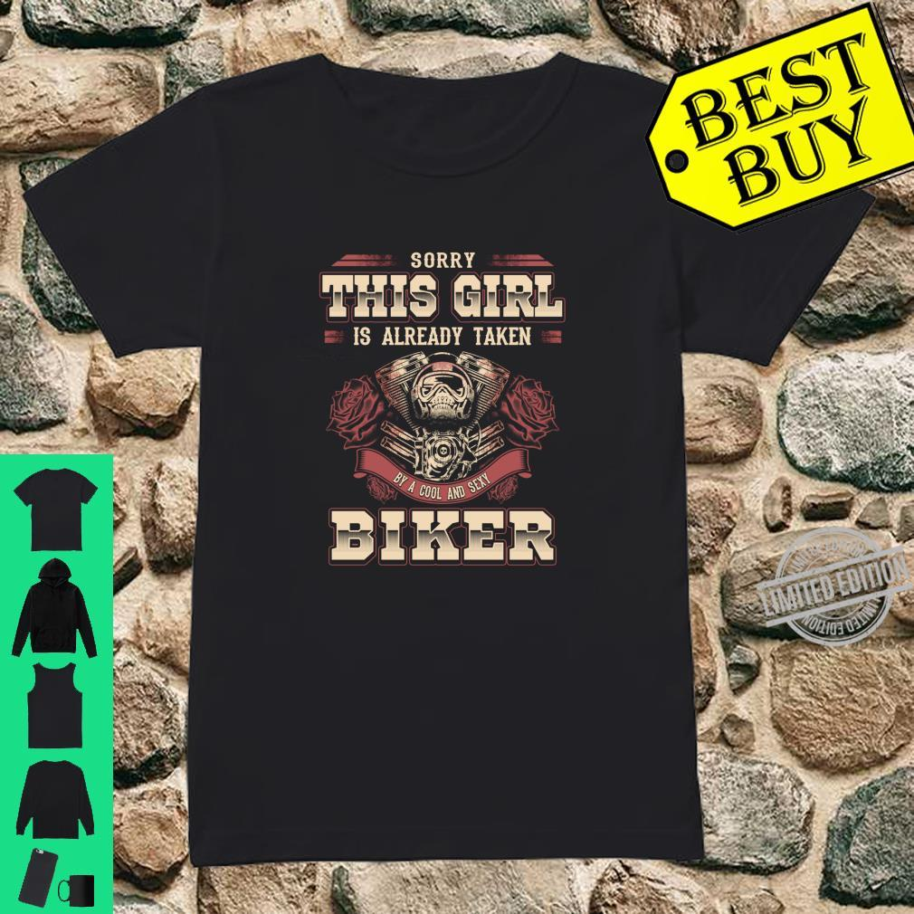 Motorcycle Babe Sorry I'm Already Taken By Hot Biker Shirt ladies tee