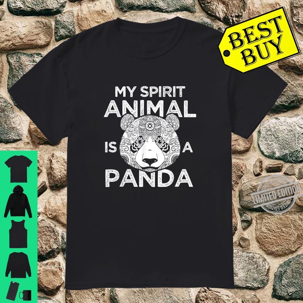 My Spirit Animal Is A Panda Shirt