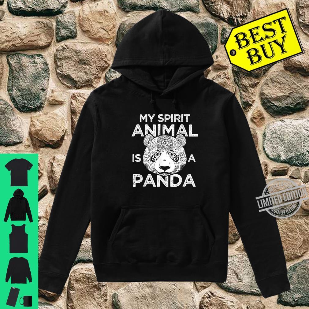 My Spirit Animal Is A Panda Shirt hoodie