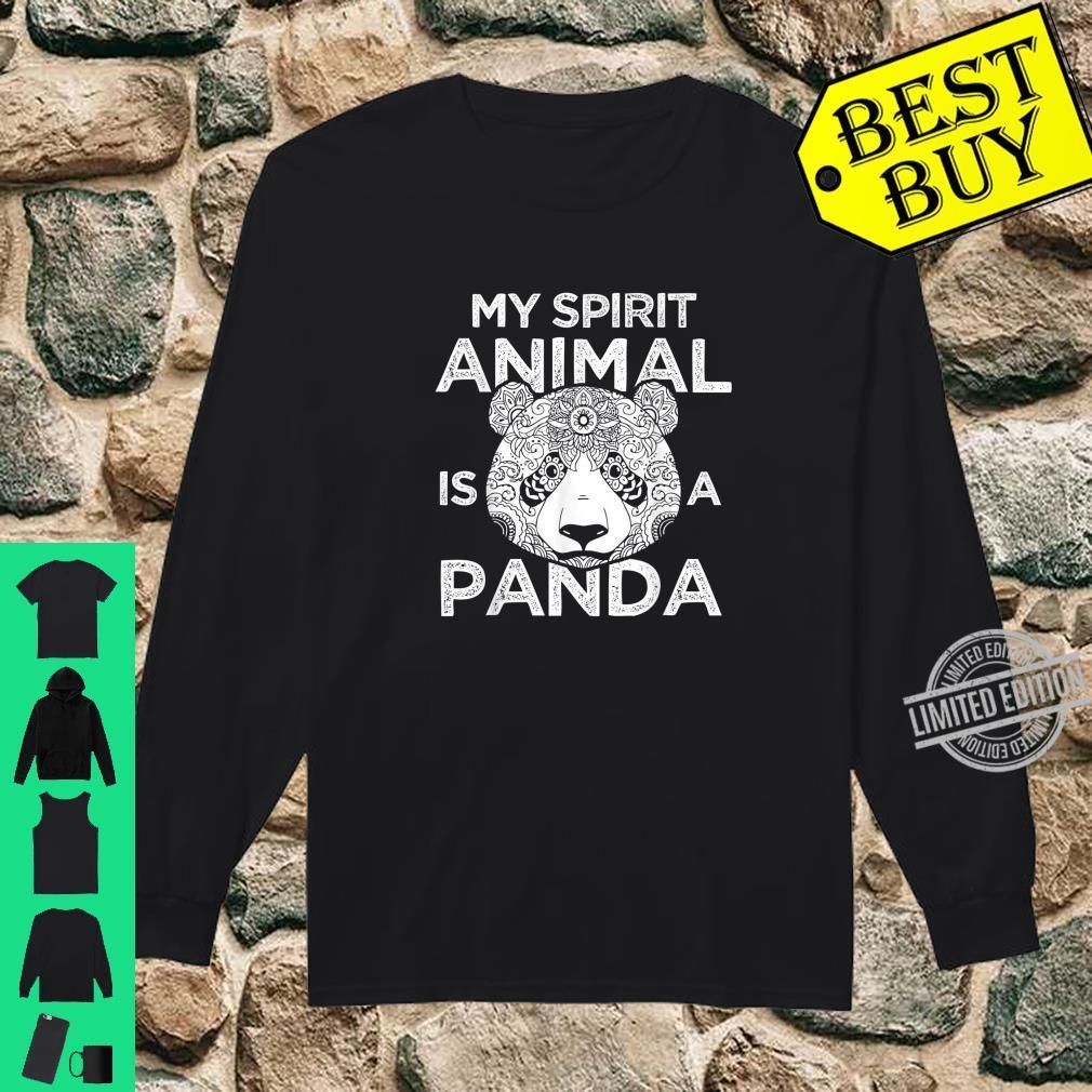 My Spirit Animal Is A Panda Shirt long sleeved