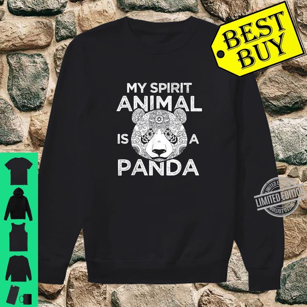 My Spirit Animal Is A Panda Shirt sweater