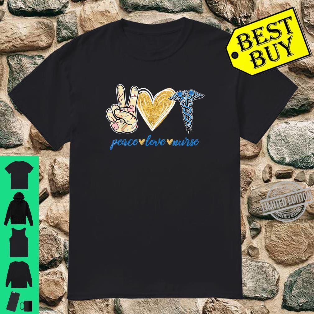 Peace Love Hippie Sign Heart Nurse Cute Nurse Shirt