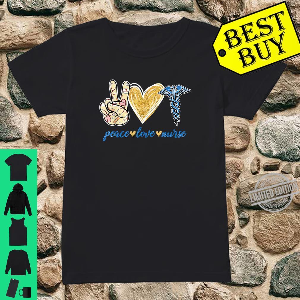 Peace Love Hippie Sign Heart Nurse Cute Nurse Shirt ladies tee