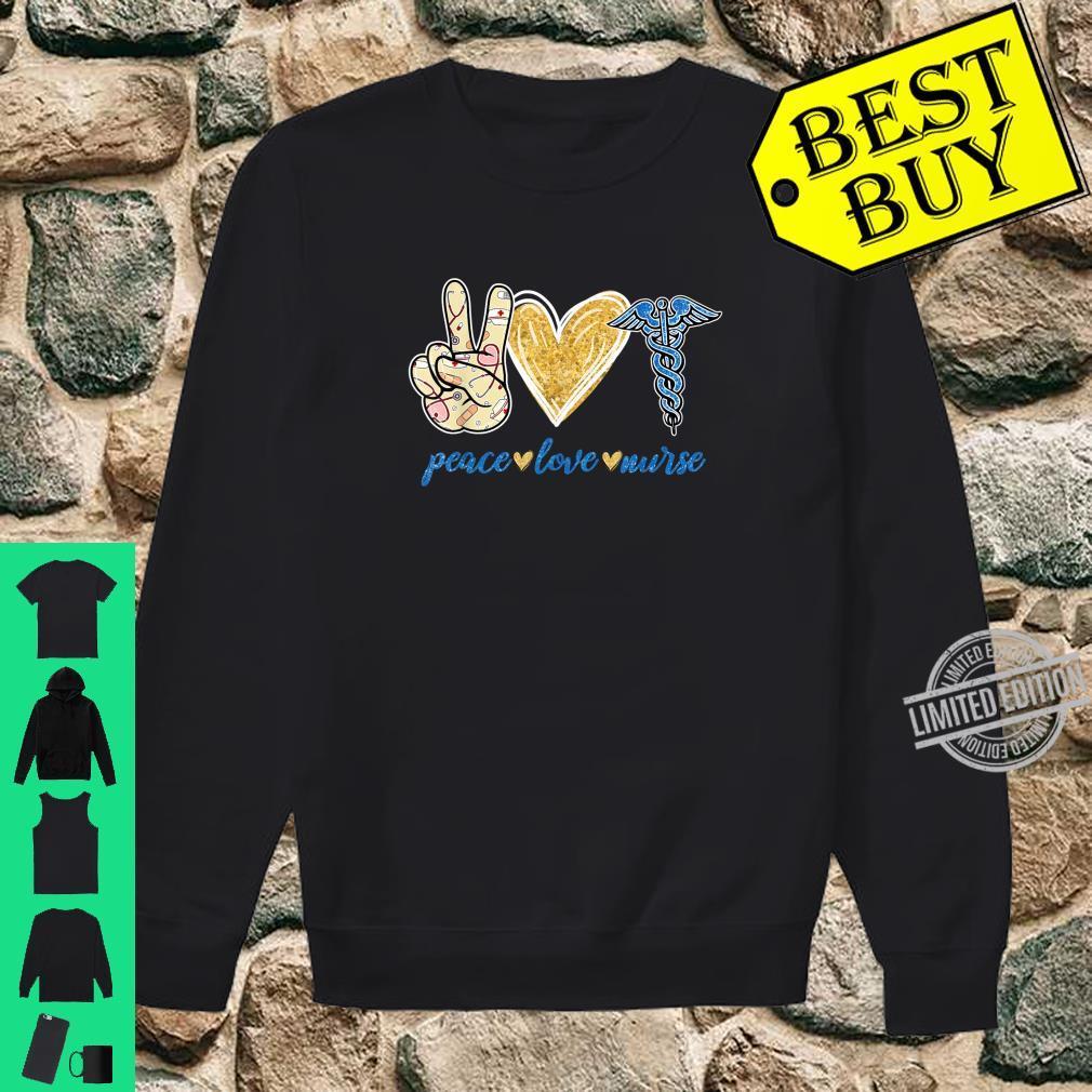 Peace Love Hippie Sign Heart Nurse Cute Nurse Shirt sweater