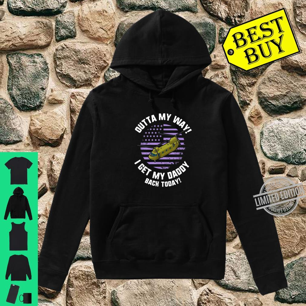 Purple Up Military Child Month Awareness My Daddy Back Shirt hoodie