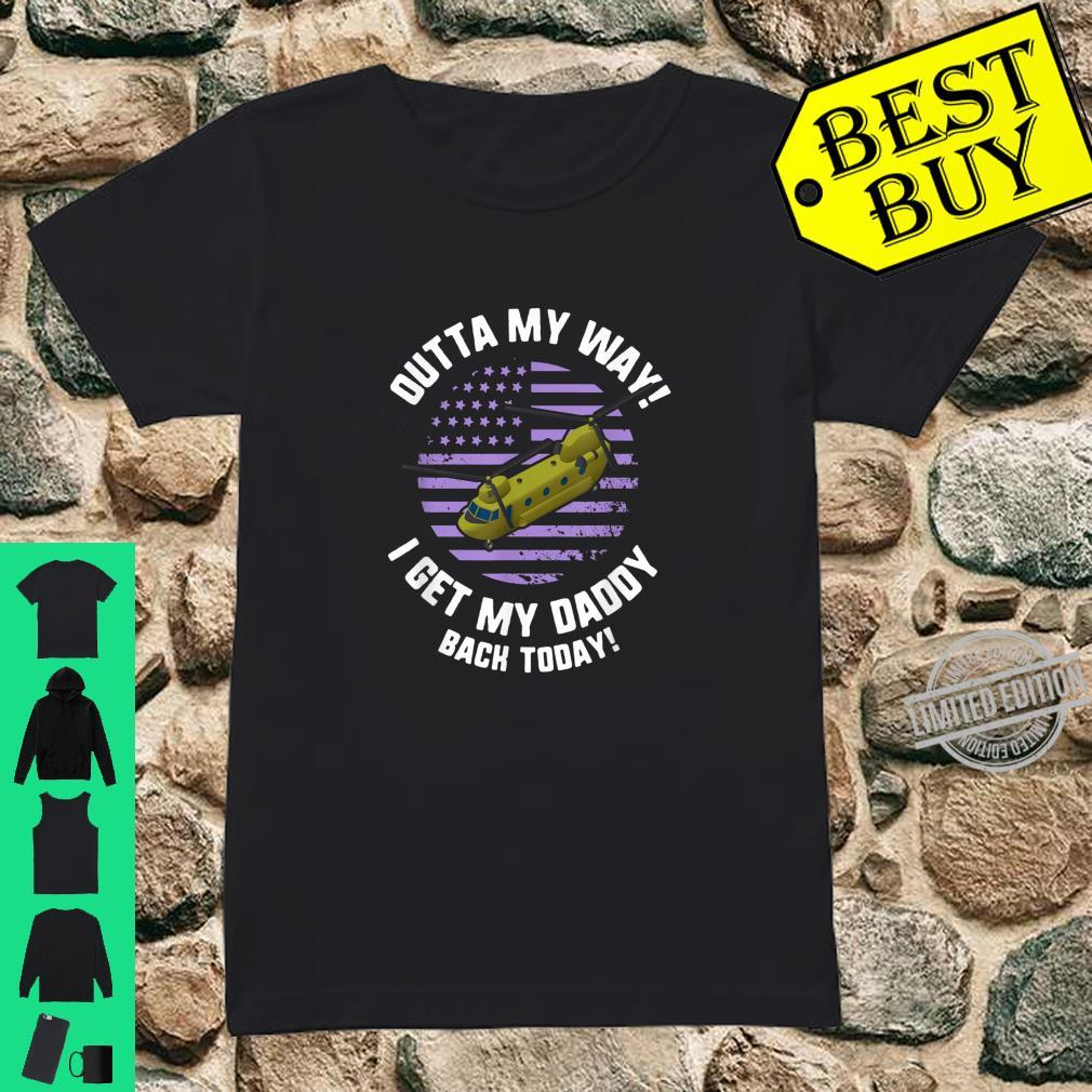 Purple Up Military Child Month Awareness My Daddy Back Shirt ladies tee