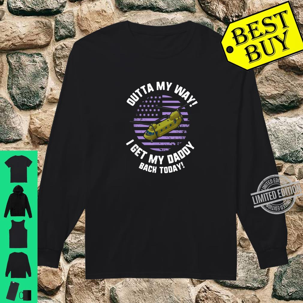 Purple Up Military Child Month Awareness My Daddy Back Shirt long sleeved