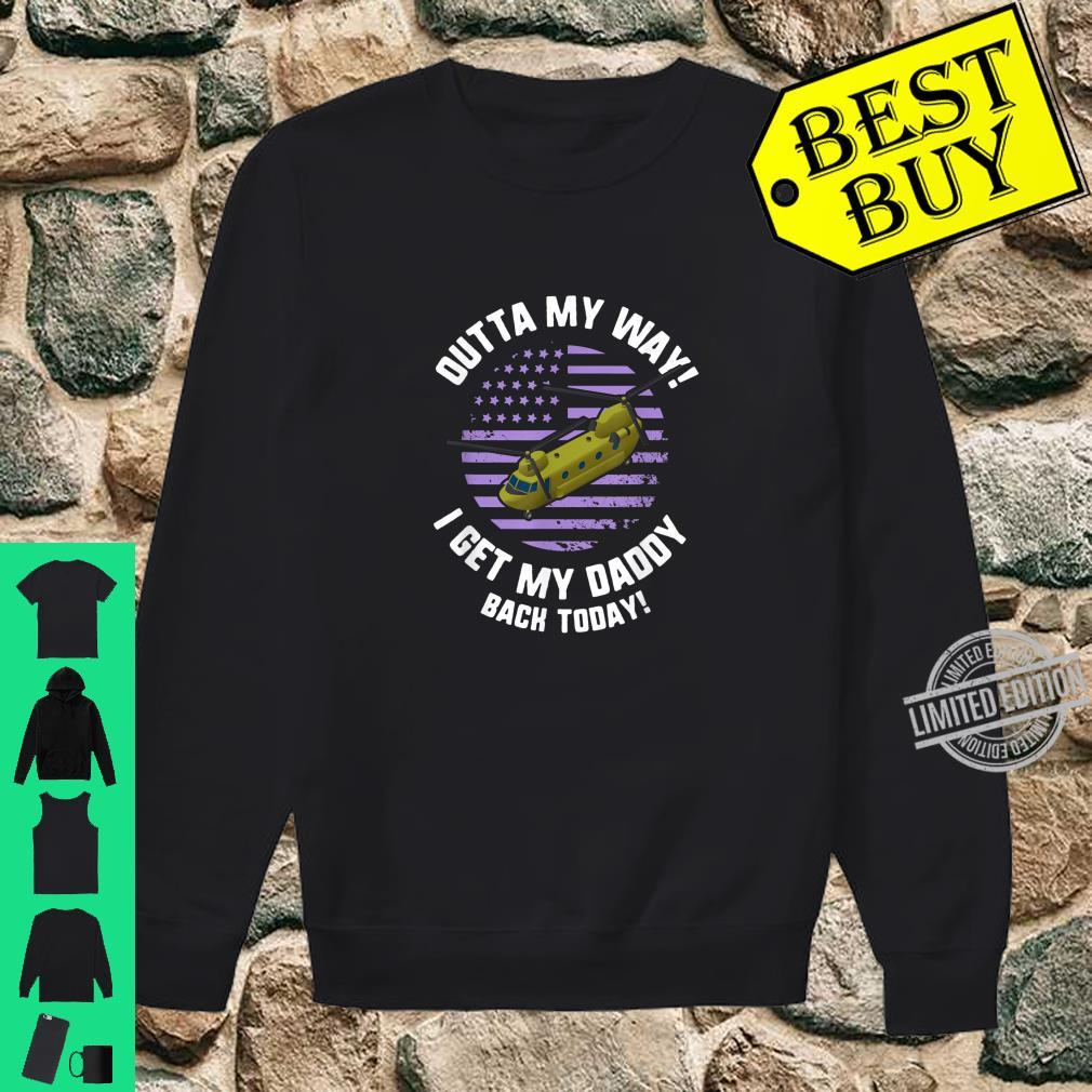 Purple Up Military Child Month Awareness My Daddy Back Shirt sweater
