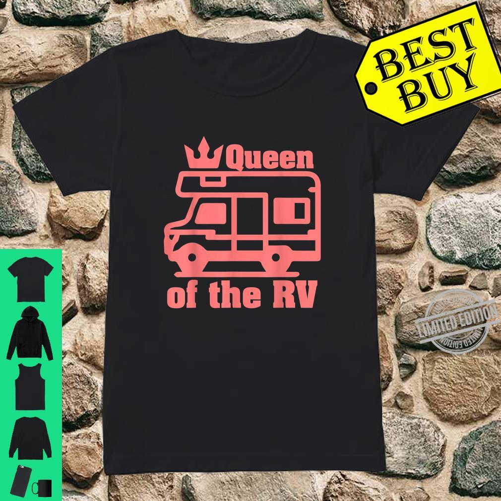 Queen Of The RV Camping RVs Shirt ladies tee